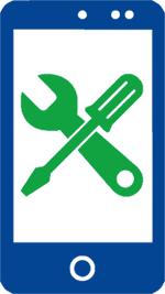 Cell phone repair, smartphone repair in Aston, PA - phone repair icon image