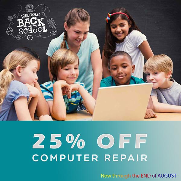 25% off computer repair